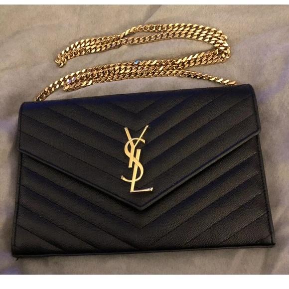 Yves Saint Laurent Bags   Ysl Wallet On Chain   Poshmark 48170c7e77
